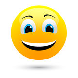 Vector smile. On white background Royalty Free Stock Images