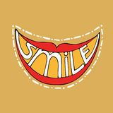 Vector smile. Bright positive smile. Vector composition with the inscription Stock Images