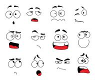 Vector smile emoticons or emoji faces icons set. Smile emoticons and emoji faces icon set for chat or social net web application. Vector line design isolated set vector illustration
