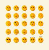 Vector smile icon set. Flat Design Stock Photography