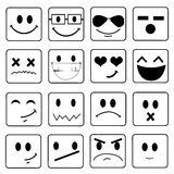 Vector Smile Icon Set Stock Photography