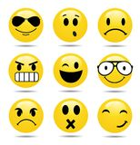 Vector Smile Icon Set. On white Royalty Free Stock Images