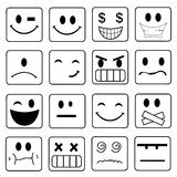 Vector Smile Icon Set Stock Photos