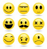 Vector Smile Icon Set Stock Image