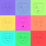 Vector smile icon Stock Images