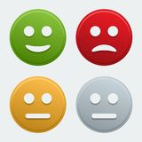 Vector smile icons Royalty Free Stock Image