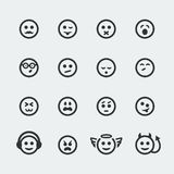 Vector smile mini icons #2. Vector smile mini icons set Stock Images