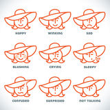 Vector Smiles Icons Stock Images