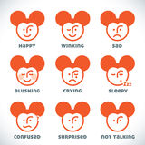 Vector Smiles Icons Stock Image