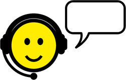 Vector smiley customer support representative illu Stock Photos