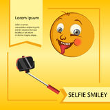 Vector smiley. A cute little creature. Expresses emotions. He has expressive eyes, nose, mouth. The emoticon smileys or grimaces Royalty Free Stock Images