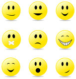 Vector smiley faces Royalty Free Stock Photo