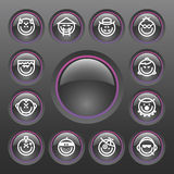 Vector Smiley Icon Set Stock Images