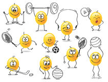 Vector smiley sports Stock Photo