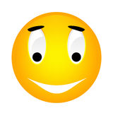 Vector smiley yellow emoticon. Royalty Free Stock Photos