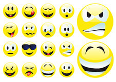 Vector Smilies Royalty Free Stock Images