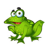 Vector smiling green frog Stock Image