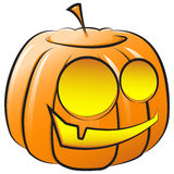 Vector smiling pumpkin. The symbol of Halloween Stock Photos