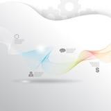 Vector smoke concept business background Stock Photos