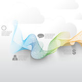 Vector smoke concept business background. Eps10 vector smoke concept business background Stock Photography