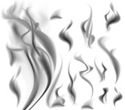 Vector smoke. Realistic smoke on white background vector illustration Royalty Free Stock Images