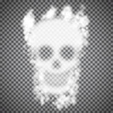 Vector Smoke Skull Stock Images