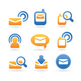 Vector sms mail icons. Sms mail symbols web icons set Stock Photography