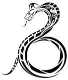 Vector Snake. Snake in the form of a tribal tattoo Royalty Free Stock Images