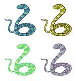 Vector snakes set Stock Photos