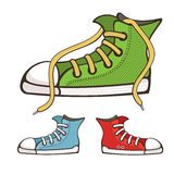 Vector sneakers Royalty Free Stock Photography