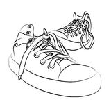 Vector sneakers Royalty Free Stock Photos