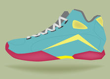Vector - Sneakers, basketball shoes Royalty Free Stock Image
