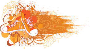 Vector sneakers, gym-shoes. Royalty Free Stock Photography