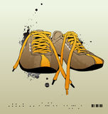 Vector sneakers, gym-shoes stock illustration