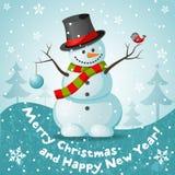 Vector sneeuwman Stock Foto's