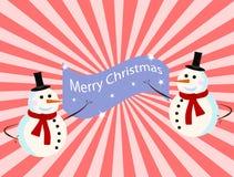 Vector sneeuwmankaart voor Kerstmis royalty-vrije illustratie