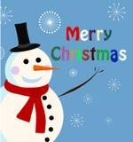 Vector sneeuwmankaart voor Kerstmis vector illustratie