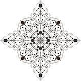 Vector sneeuwvlok Stock Afbeelding