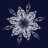 Vector sneeuwvlok Royalty-vrije Stock Foto's