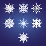 Vector sneeuwvlokken Stock Fotografie