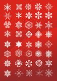 Vector sneeuwvlokken Royalty-vrije Stock Foto's