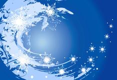 Vector sneeuwvlokken (grunge achtergrond) Stock Foto's