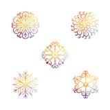 Vector sneeuwvlokken Kerstmis en Nieuwjaarontwerp Royalty-vrije Stock Foto's