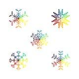 Vector sneeuwvlokken Kerstmis en Nieuwjaarontwerp Royalty-vrije Stock Fotografie