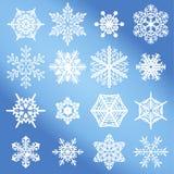 Vector sneeuwvlokreeks Royalty-vrije Stock Afbeelding