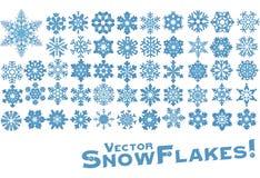 Vector sneeuwvlokvormen Royalty-vrije Stock Afbeeldingen