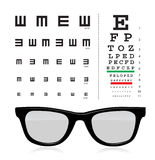 Vector Snellen eye test chart Royalty Free Stock Images