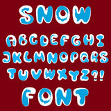 Vector snow alphabet Royalty Free Stock Photography