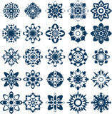 Vector snow flake collection Stock Photo