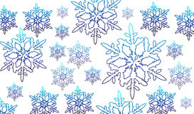 Vector snow flake Stock Images